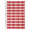 Alphabetical 'A' Side Tab Colour Coding Labels, 25 x 42 mm, 240/Pack