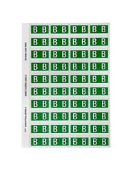 44502 Alphabetical 'B' Side Tab Colour Coding Labels