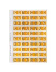 44503 Alphabetical 'C' Side Tab Colour Coding Labels