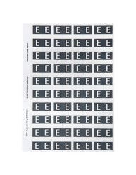 44505 Alphabetical 'E' Side Tab Colour Coding Labels
