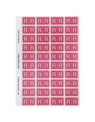 44518 Alphabetical 'R' Side Tab Colour Coding Labels