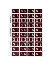 44519 Alphabetical 'S' Side Tab Colour Coding Labels