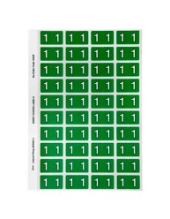 Numeric '1' Side Tab Colour Coding Labels