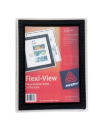 Black Flexi-View Presentation Book