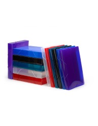 Translucent Blue Polypropylene Document File
