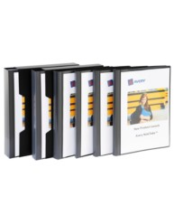 Black Insert Cover Display Book with Case, 60 Pocket