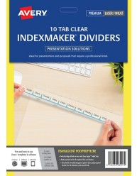 Clear IndexMaker Dividers