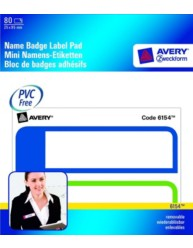Name Badge Pad Blue, Green 25 x 95 mm