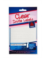 Clear Rectangle Print or Write Labels