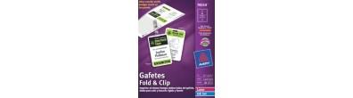 Gafetes Avery® 74554 , Fold&Clip, Broche Caimán, Laser/InkJet, 40PK