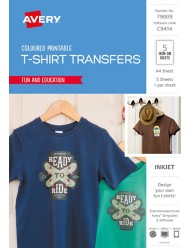 Inspired™ Coloured T-Shirt Transfers, 5/Pack