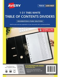 White Polypropylene Dividers