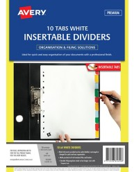 White Polypropylene Insertable Dividers