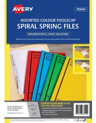 Assorted Colour Spiral Spring Action File