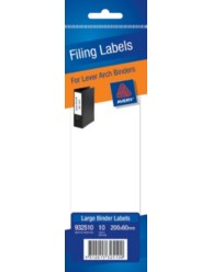White Write-on Lever Arch Filing Labels