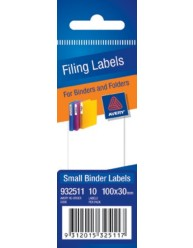 White Write-on Binder and Folder Filing Labels