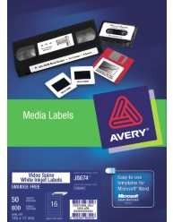 White Video Spine Labels