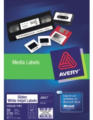White 35 mm Slide or Small Item Labels