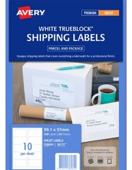 White Parcel Labels