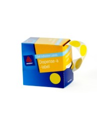 Yellow Dispenser Labels