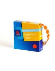 Fluoro Orange Dispenser Labels