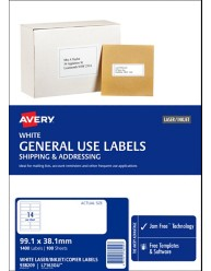 General Use Labels suitable for all printers and photocopiers
