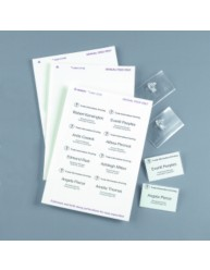 White Name Badge Refill Pack