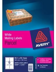 White Parcel Labels