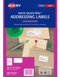 White Mini Address Labels