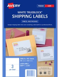 White TrueBlock Parcel Labels