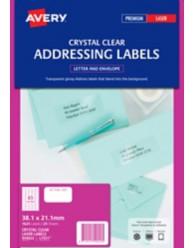 Clear Mini Address Labels
