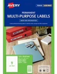 White Standard Data Cartridge Labels