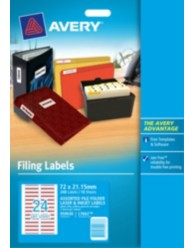 Assorted Colour File Folder Labels