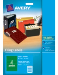 Green Lever Arch File Spine Labels