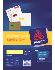 avery 5202 label template - fluoro yellow signalling labels l5202fy