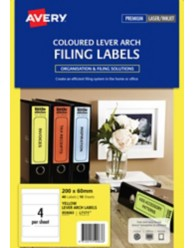 Yellow Lever Arch File Spine Labels