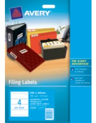 Lever Arch File Spine Labels Assorted Colours