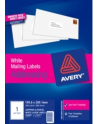 White Quick Peel Address Labels