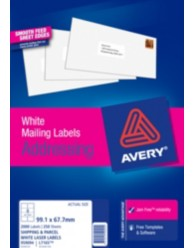 White Quick Peel Address Labels