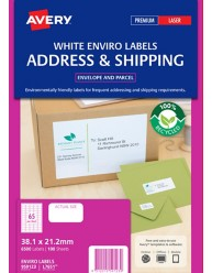 100% Recycled Enviro Labels