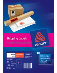 Printable warning labels for shipping and parcels