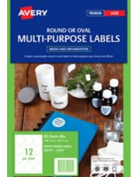 White Round Multi-purpose Labels