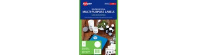 White Round Multi-purpose Labels, L6112, 240/Pack, 40 mm diameter