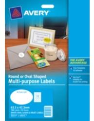 White Oval Multi-purpose Labels