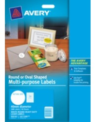 White Round Heavy Duty Multi-purpose labels