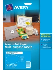 Clear Oval Multi-purpose Labels