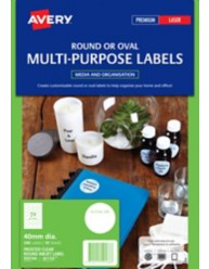 Clear Round Multi-purpose Labels