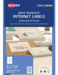 White TrueBlock Internet Shipping Labels, L7165