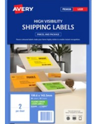 Fluoro Green Shipping Labels Avery