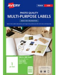 Glossy Photo Quality Labels